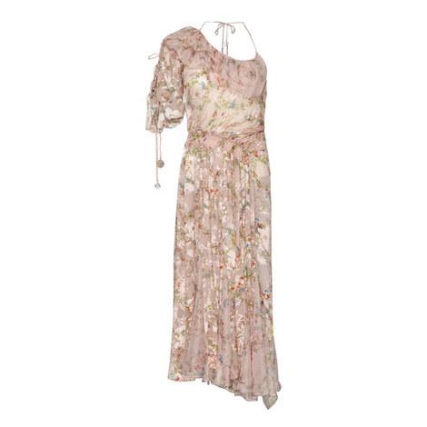 William Printed Devoré Dress, ${color}