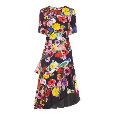 Elizabeth Decoupage Print Dress, ${color}