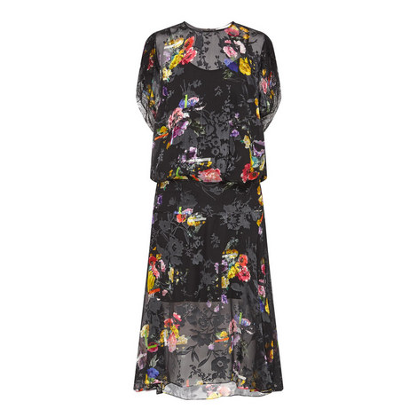 Leonora Floral Print Dress, ${color}