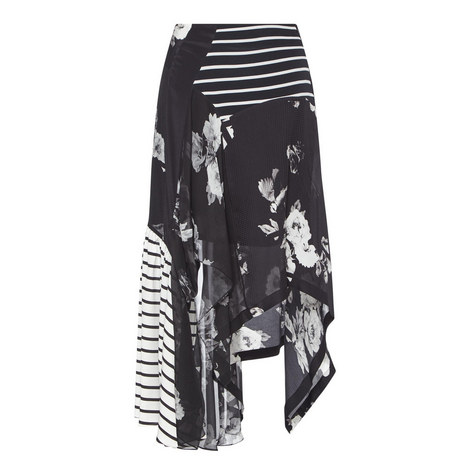Veronika Monochrome Printed Skirt, ${color}