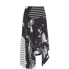 Veronika Monochrome Printed Skirt