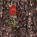 Floral Python Silk Skirt, ${color}
