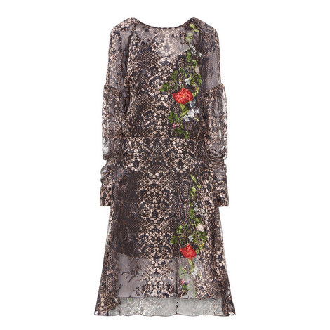 Selina Long Sleeve Dress, ${color}