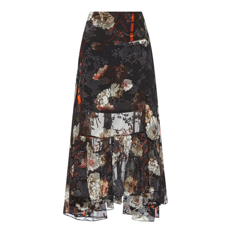 Walsh Printed Floral Skirt, ${color}