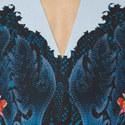 Amelia V-Neck Printed Dress, ${color}