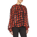 Molly Check Floral Blouse , ${color}