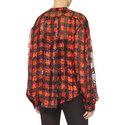 Molly Check Floral Blouse, ${color}