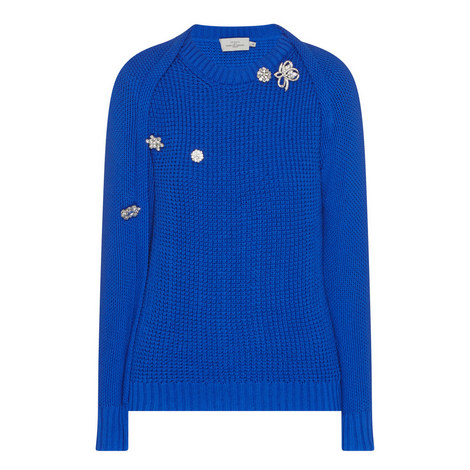 Sofie Embellished Knitted Sweater, ${color}