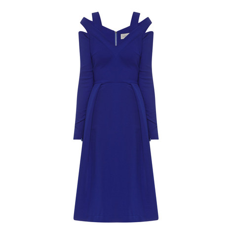 Isal Cut-Out Shoulder Dress, ${color}