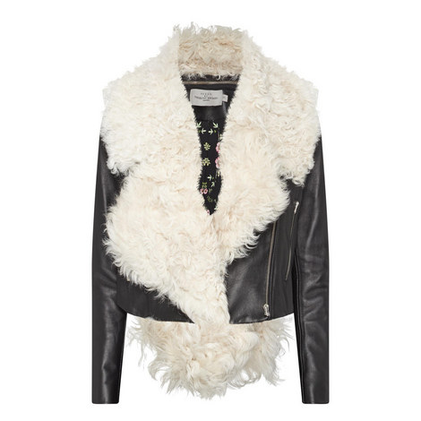 Daphne Shearling Leather Jacket, ${color}