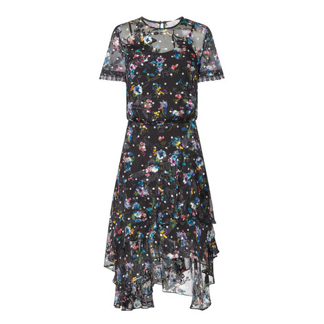 Semi-Sheer Midi Dress, ${color}