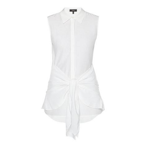 Zallane Silk Tie Blouse, ${color}