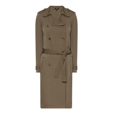 Laurelwood Silk Trench Coat, ${color}