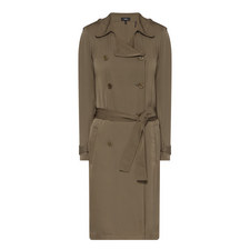 Laurelwood Silk Trench Coat