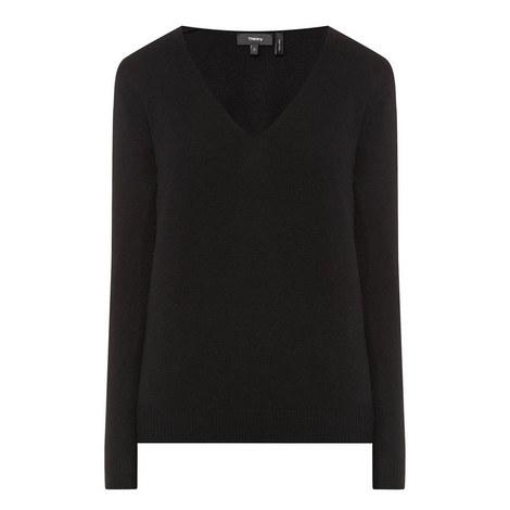 Adrianna V-Neck Cashmere Sweater, ${color}