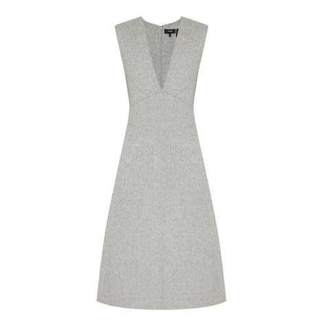 Wool V-Neck Dress, ${color}
