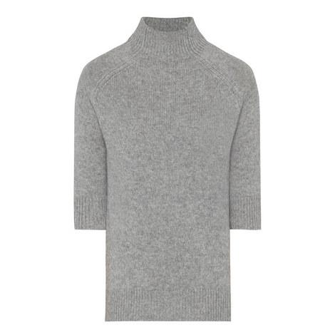 Jodi Half-Sleeve Cashmere Sweater, ${color}