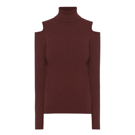 Cut-Out Polo Neck Sweater, ${color}