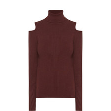 Cut-Out Polo Neck Sweater
