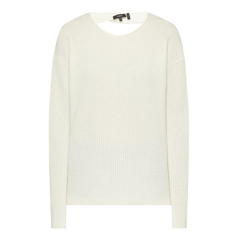 Twylina Open Back Cashmere Sweater, ${color}