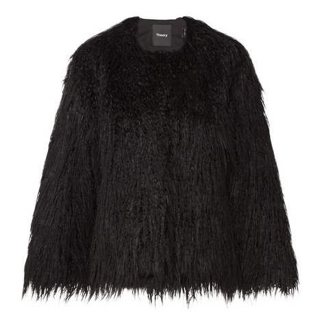 Elstana Short Faux Fur Jacket, ${color}