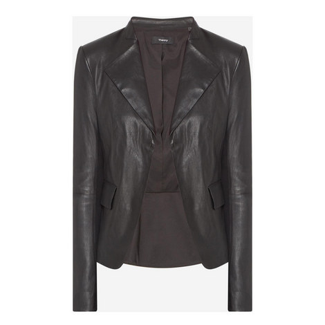 Peplum Leather Jacket, ${color}