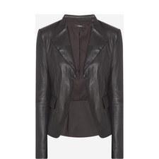 Peplum Leather Jacket