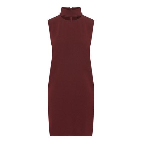 Slit Collar Dress, ${color}
