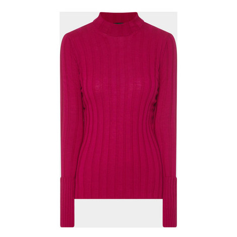Ribbed Polo Neck Sweater, ${color}