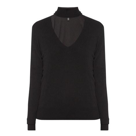 Tie-Neck Sweater, ${color}