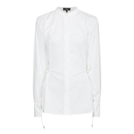 Lace-Up Button Shirt, ${color}