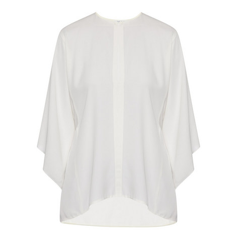 Relaxed Silk Georgette Blouse, ${color}