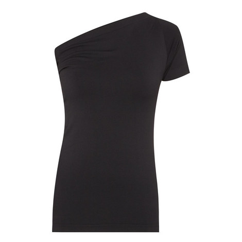 Asymmetric One Shoulder Top, ${color}