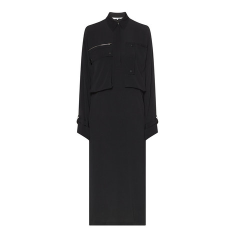 Pocket Shirt Dress, ${color}