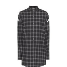 Collarless Flannel Shirt