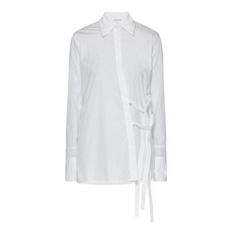Tie Waist Poplin Shirt, ${color}