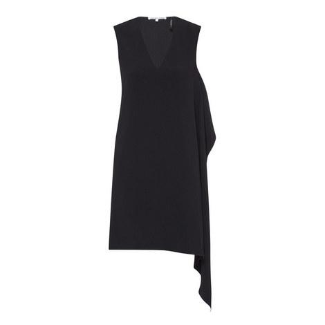 Draped Sleeveless Dress, ${color}