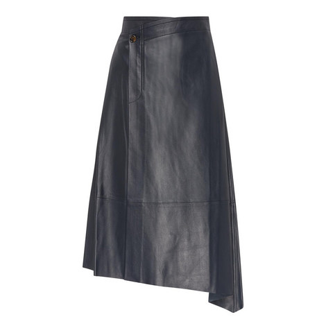 Asymmetrical Leather Skirt, ${color}