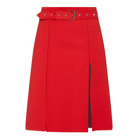 Textured Kilt Skirt, ${color}