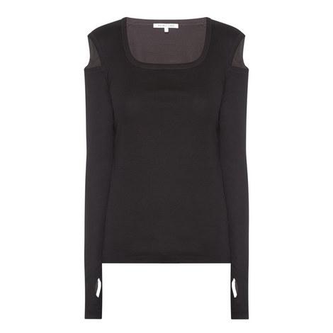 Slashed Long Sleeve Top, ${color}