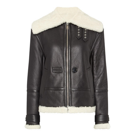 Aviator Shearling Jacket, ${color}