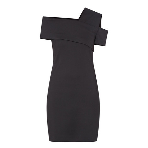 Asymmetric Scuba Dress, ${color}