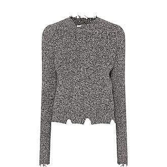 Grunge Round Neck Marl Sweater