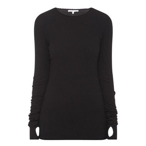 Long Sleeve Ribbed T-Shirt, ${color}