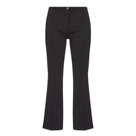 Cropped Flare Trousers, ${color}