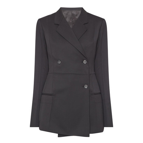 Double-Breasted Wool Blazer, ${color}