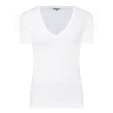 Short Sleeve V-Neck T-Shirt, ${color}