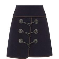 Wool Mix Mini Skirt