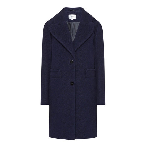 Longline Wool Mix Coat, ${color}