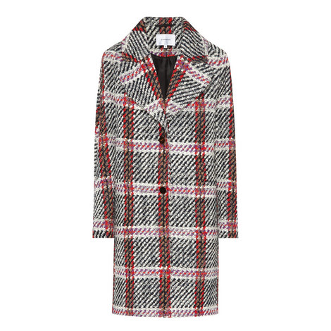Patterned Wool Coat, ${color}